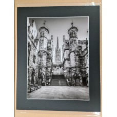 Assembly Halls Courtyard 16 x 12 inch print with mount