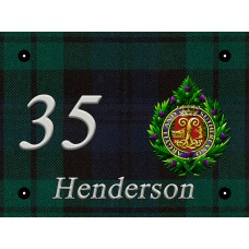 Argyll and Sutherland Highlanders door number 8 x 6 inch