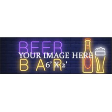 Personal banner 6' x 2'
