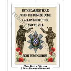 The Black Watch Brother 10 x 8  Print