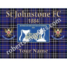 St Johnstone FC  personal 16 x 12 inch Canvas