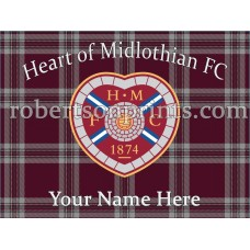 Heart of Midlothian  personal 16 x 12 inch Canvas