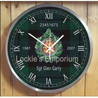 Argyll and Sutherland Highlanders personal Clock