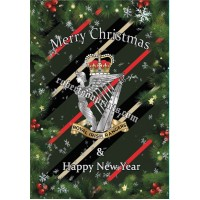 Bundle of 5 or 10 cards and envelopes  Royal Irish Rangers Christmas cards